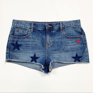 Old Navy Shooting Star Boyfriend Cutoff Shorts 12